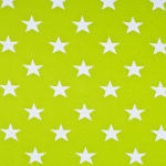 Limonkowy w białe gwiazdy