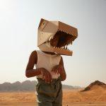 kartonowa maska 3D dinozaur koko cardboards