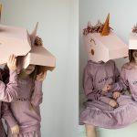 jednorożec 3D mask koko cardboards