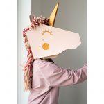 koko cardboards 3D mask unicorn diy