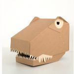 tekturowa maska 3D dinozaur rex koko cardboards.jpg