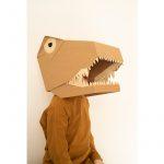 trex kartonowa maska 3D koko cardboards